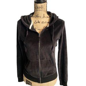 Hollister zip up hoodie sweatshirt black M